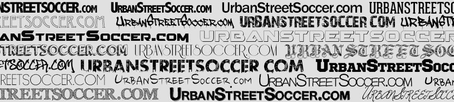 UrbanStreetSoccerFontsBanner